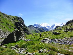 Hiking in Verbier - view of Lac de Louvie