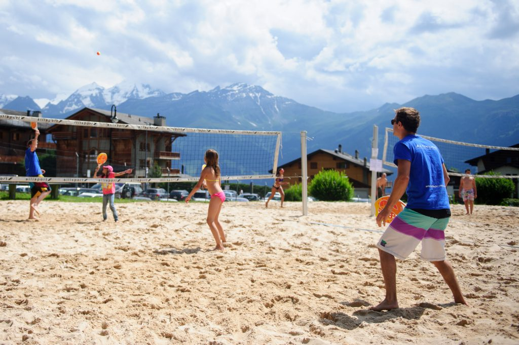 Residential camps - kids playing volleyball