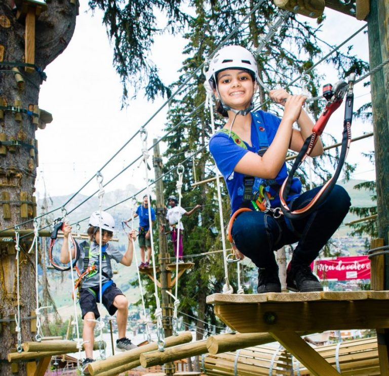 Altitude Careers - kids on a high ropes course in the trees