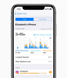 Altitude Camps - Image of an iPhone with screen time limits