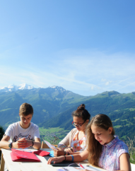 Activities and Excursions - kids taking an outdoor language class