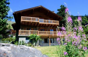 Residential Accommodation - an outside view of the chalet and the garden