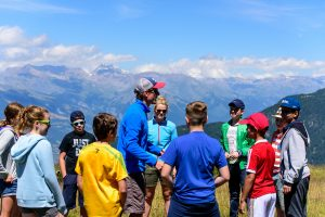 Mountain games in the Swiss Alps